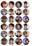 24 New  Justin Bieber Rice Wafer Paper Cake Bun Toppers
